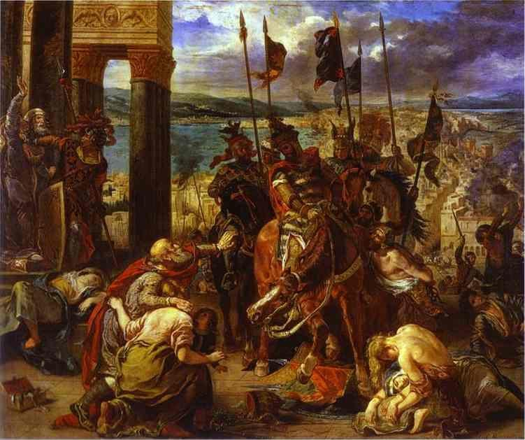 Eugène Delacroix. The Entry of the Crusaders into Constantinople.