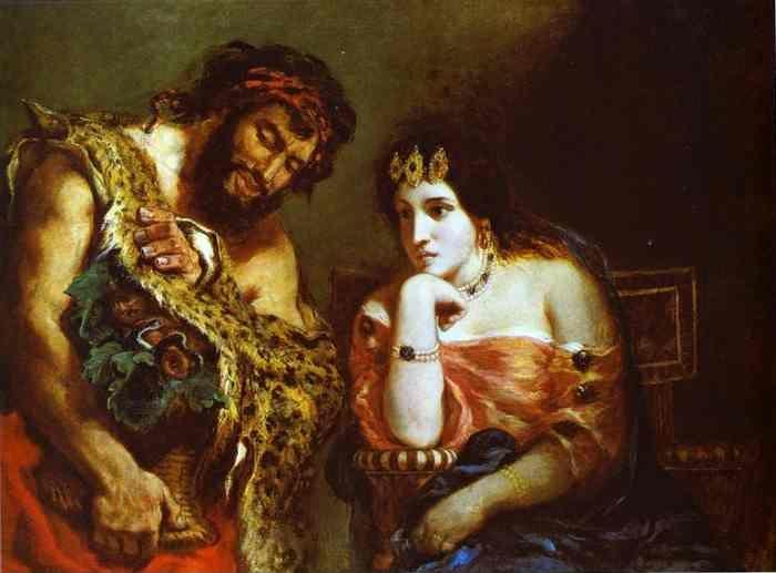 Eugène Delacroix. Cleopatra and the Peasant.