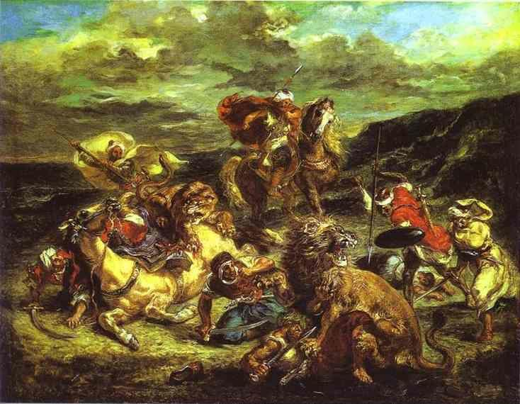 Eugène Delacroix. The Lion Hunt.
