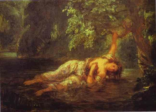 Eugène Delacroix. The Death of Ophelia.