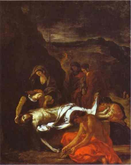 Eugène Delacroix. The Entombment of Christ.