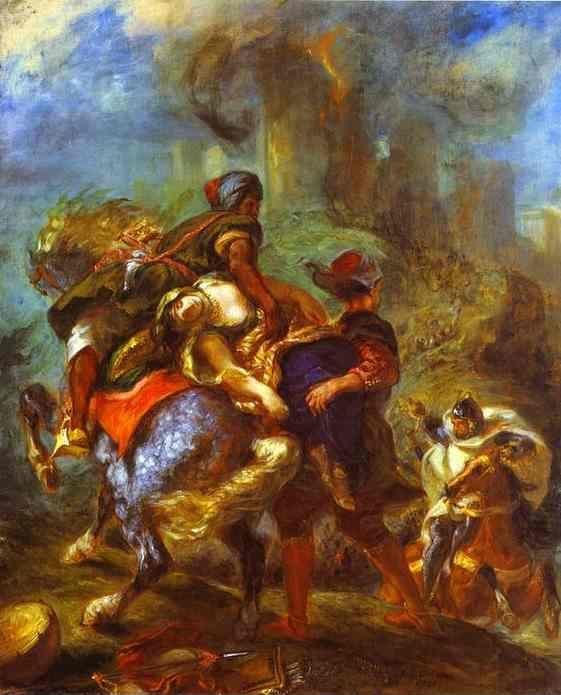 Eugène Delacroix. The Abduction of Rebecca.
