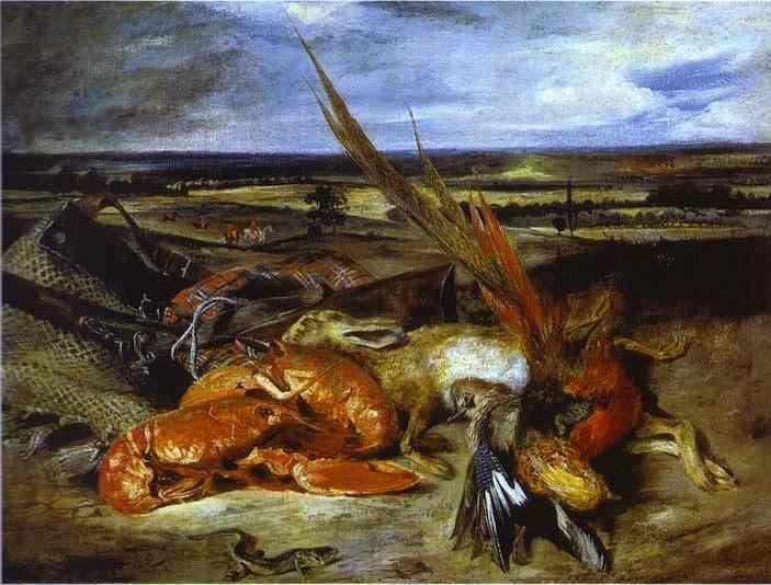 Eugène Delacroix. Still Life with Lobsters.