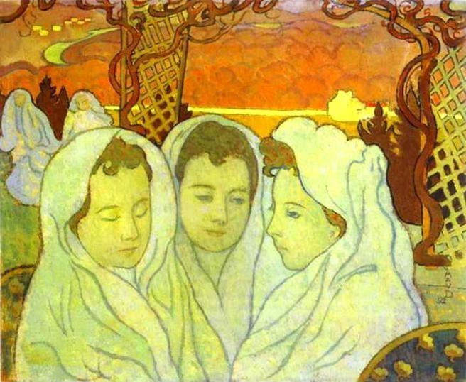 Maurice Denis. Triple Portrait of Marthe/Triple Portrait de Marthe fiancée.