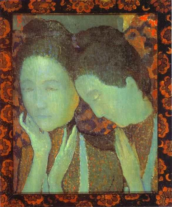 maurice denis the two sisters les deux soeurs. Black Bedroom Furniture Sets. Home Design Ideas