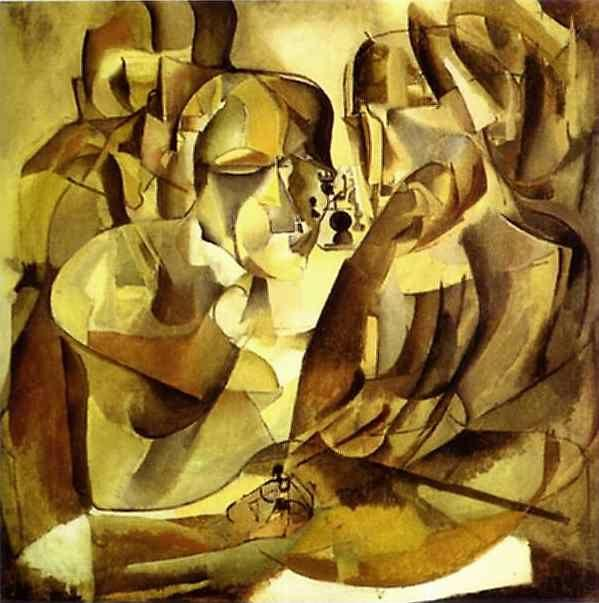 Marcel Duchamp. Portrait of Chess Players/Portrait de joueurs d'echecs.