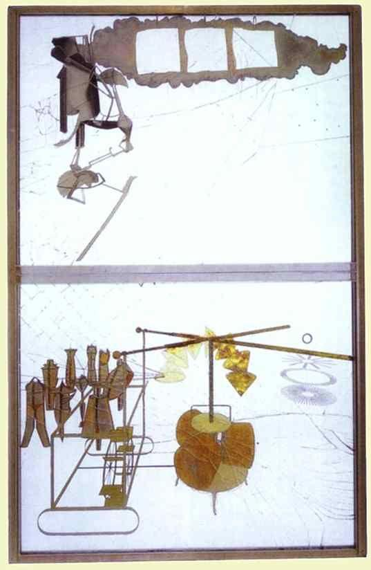 Marcel Duchamp. The Bride Stripped Bare By Her Bachelors, Even or The Large Glass.