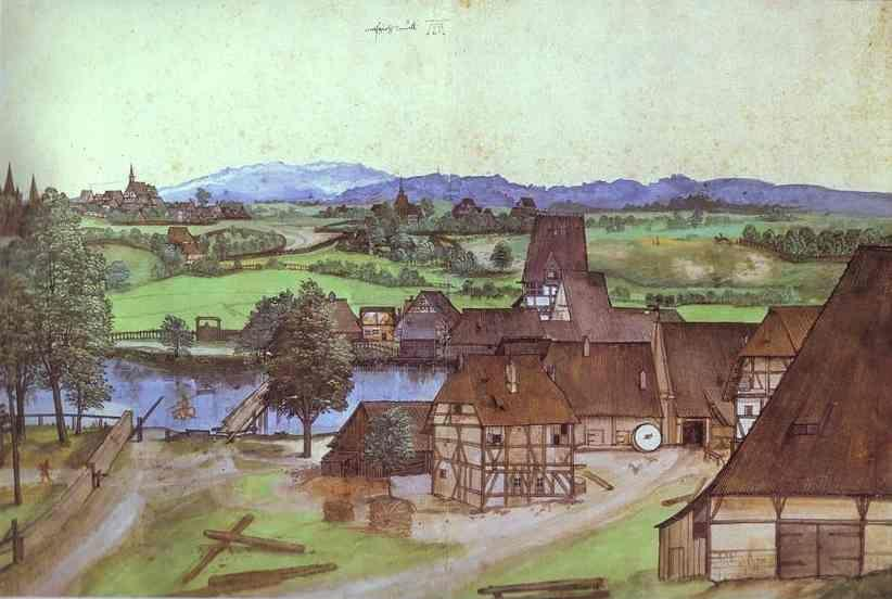 Albrecht Durer. The Wire-Drawing Mill.