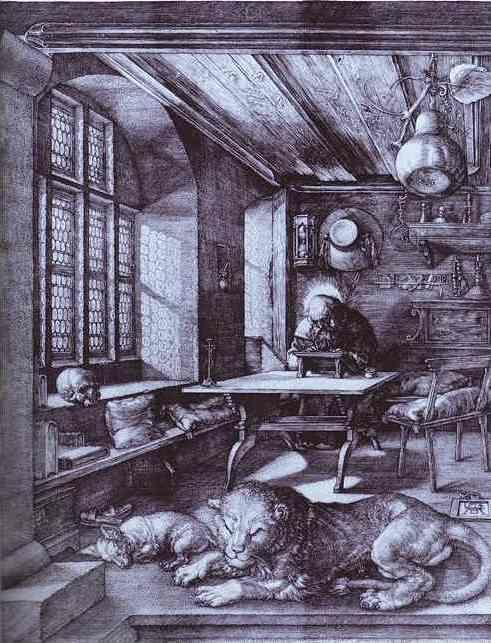 Albrecht Dürer. St. Jerome in His Study.