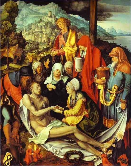 Albrecht Durer. Lamentation for Christ.