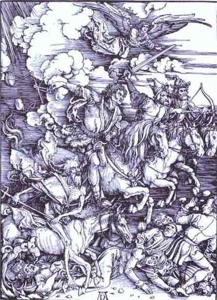 Albrecht Durer. The Four Horsemen of the Apocalypse.