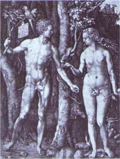 Albrecht Durer. Adam and Eve.