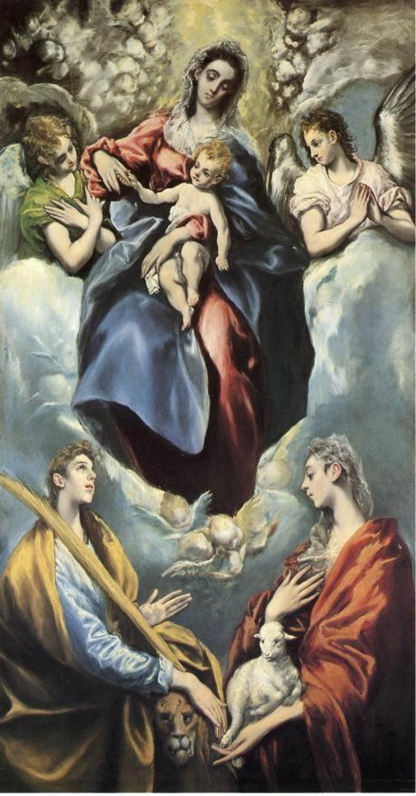 El Greco. Madonna and Child with St. Martina and St. Agnes.