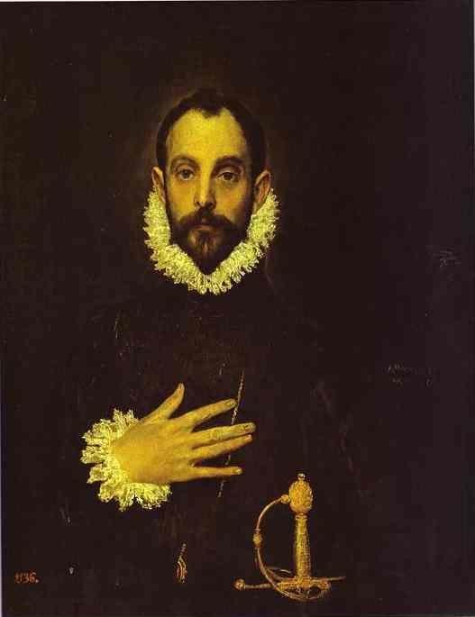 El Greco. Portrait of a Nobleman with His Hand on His Chest.
