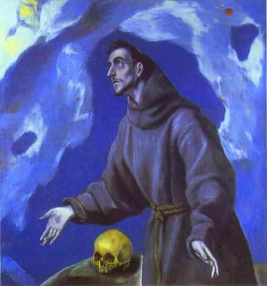 El Greco. St. Francis Receiving the Stigmata.