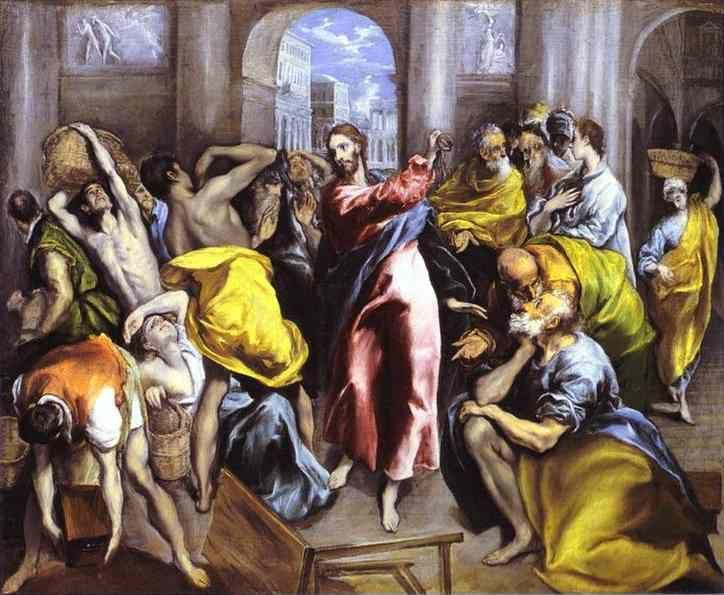 El Greco. Christ Driving the Traders from the Temple.