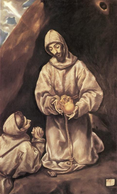 El Greco. St. Francis and Brother Leo Meditating on Death.