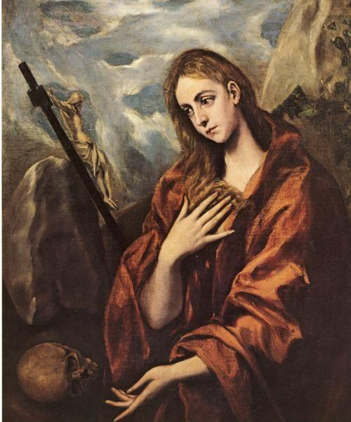 El Greco. Mary Magdalen in Penitence with the Crucifix.