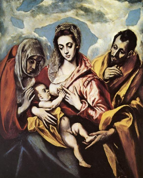 El Greco. Holy Family with St. Anne.