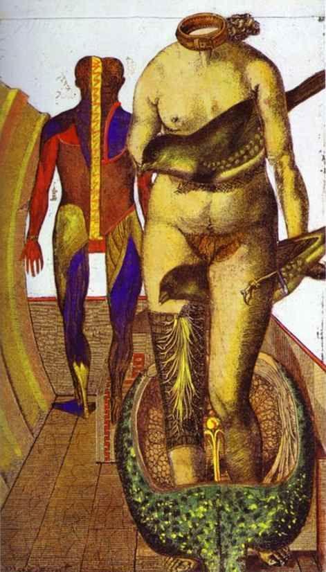 Max Ernst. The Word or Woman-Bird / La Parole ou Femme-oiseau.