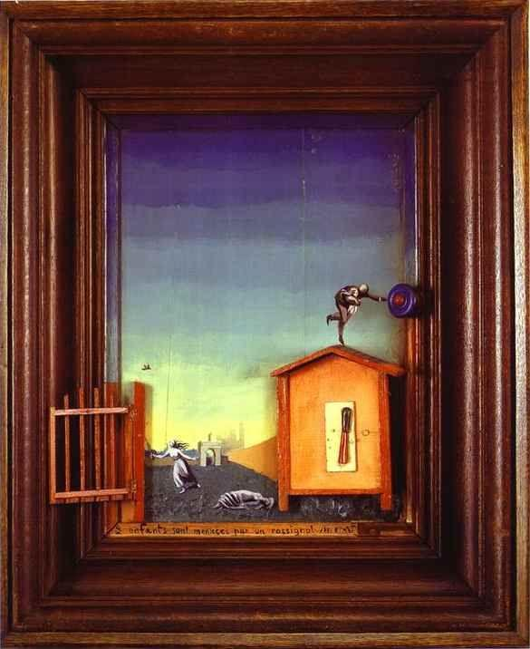 Max Ernst. Two Children are Threatened by a Nightingale.