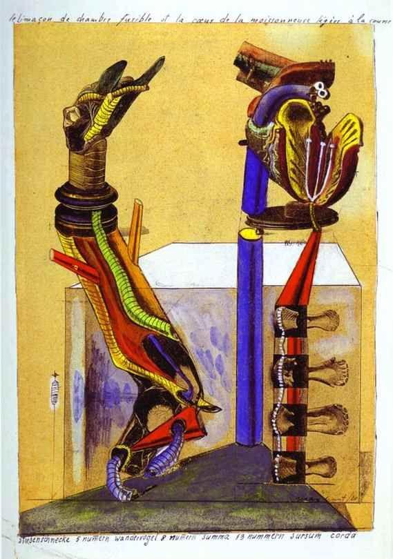 Max Ernst. Le Limaçon de chambre.