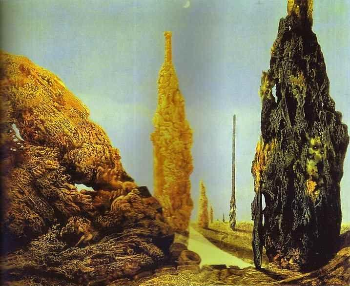 Max Ernst. Lone Tree and United Trees / Arbre solitaire et arbres conjugaux.