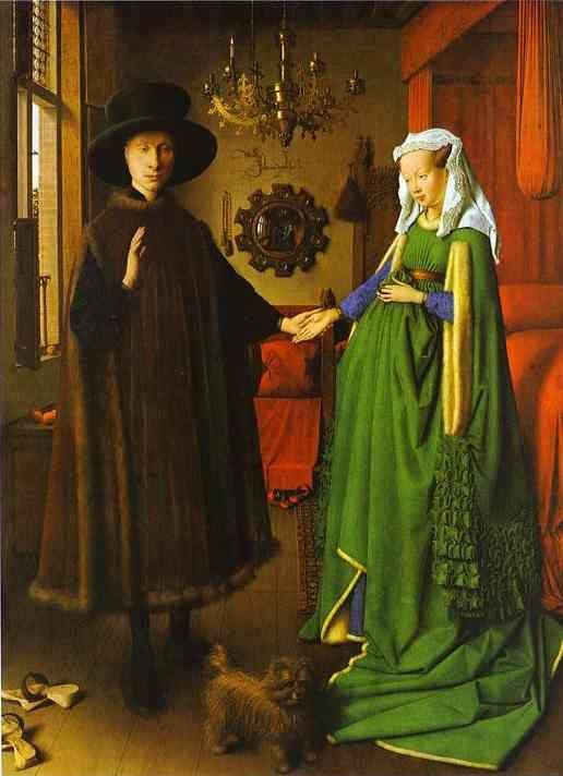 Jan van Eyck. Giovanni Arnolfini and His Wife Giovanna Cenami (The Arnolfini Marriage).