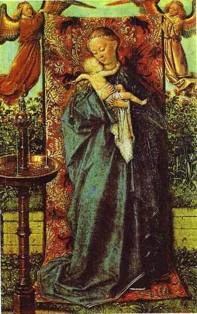 Jan van Eyck. Madonna by the Fountain.