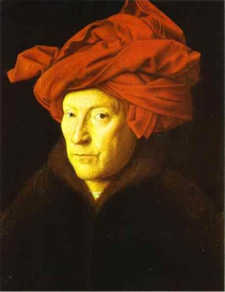 Jan van Eyck. Man in a Red Turban.
