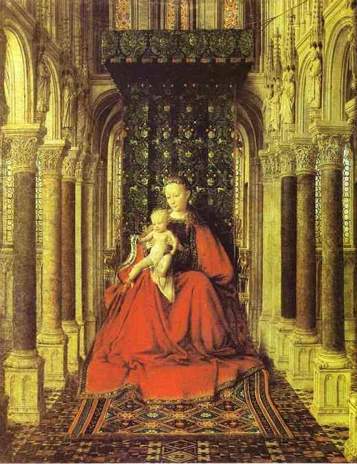 jan van eyck the virgin and child in a church central