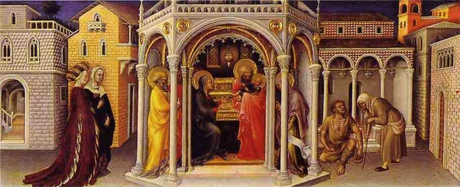 Italian Florence: Gentile Da Fabriano. The Presentation At The Temple. From