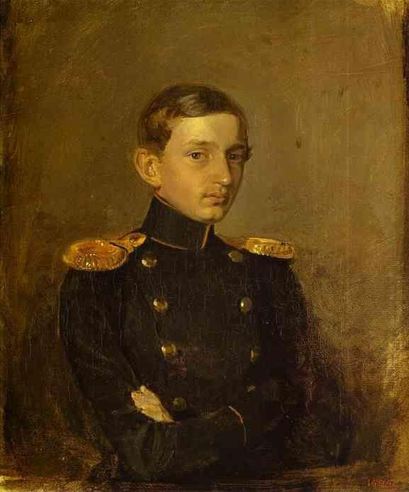 Pavel Fedotov. Portrait of M. P. Zhdanovich.