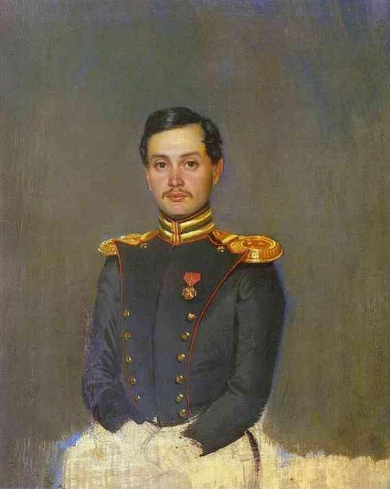 Pavel Fedotov. Portrait of Second-Captain Vannovsky.