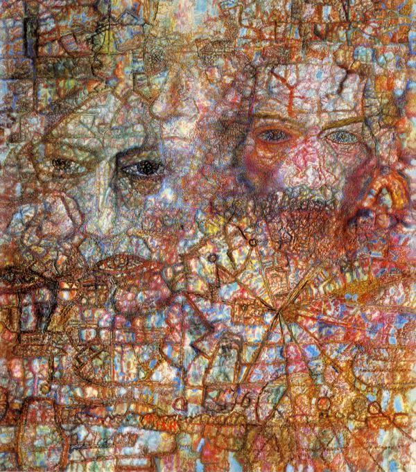 Pavel Filonov. Countenances (Faces on an Icon).