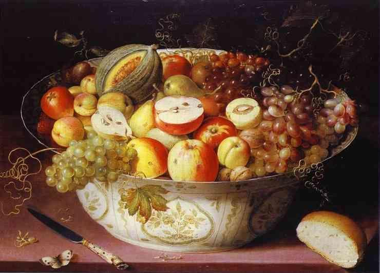 Osias Beert. Still Life of fruit in a Wan-li Bowl.