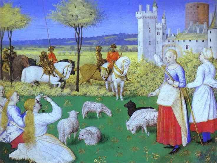 Jean Fouquet. St. Marguerite. Miniature from the Book of Hours of Etienne Chevalier.