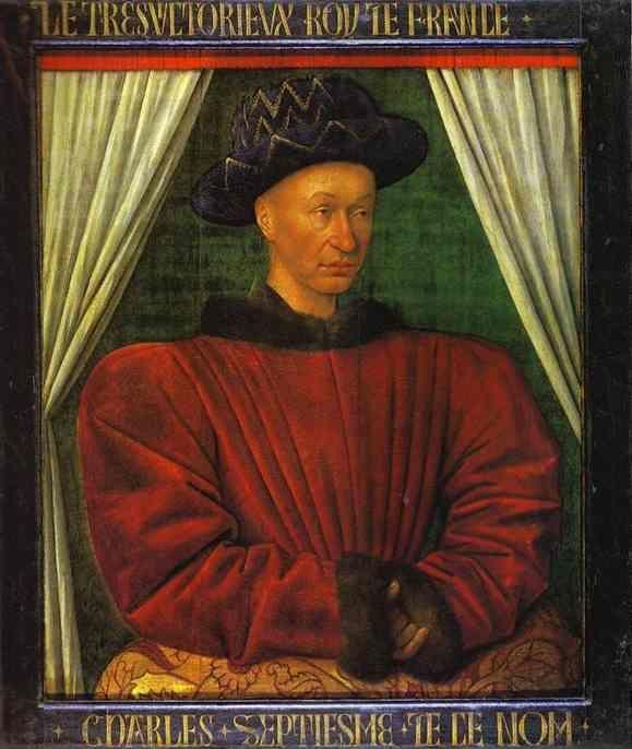 Jean Fouquet. Portrait of Charles VII, King of France.