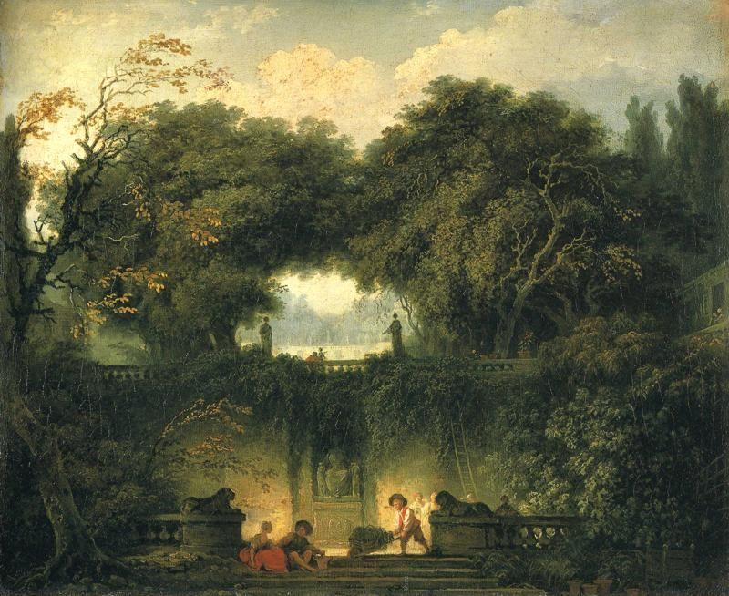 "Jean-Honoré Fragonard. The Gardens of the Villa d 'Este at Tivoli (""The Little Park"")."
