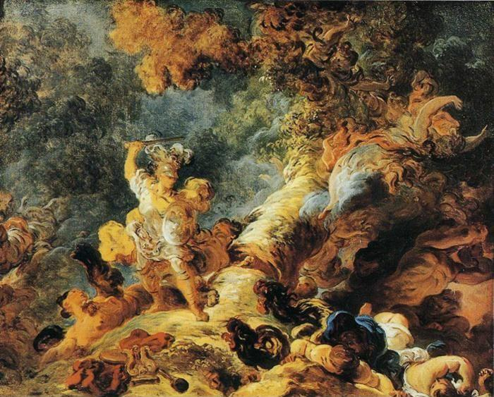 Jean-Honoré Fragonard. Rinaldo in the Enchanted Forest.