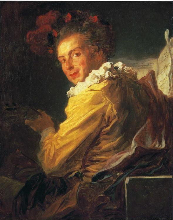 Jean-Honoré Fragonard. Portrait de Fantasie: Monsieur de la Breteche.