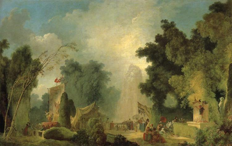Jean-Honoré Fragonard. The Fair at Saint-Cloud.