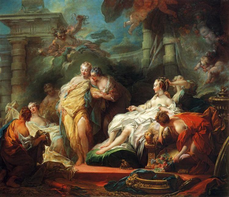 Jean-Honoré Fragonard. Psyche Showing Her Sisters Her Gifts from Cupid.
