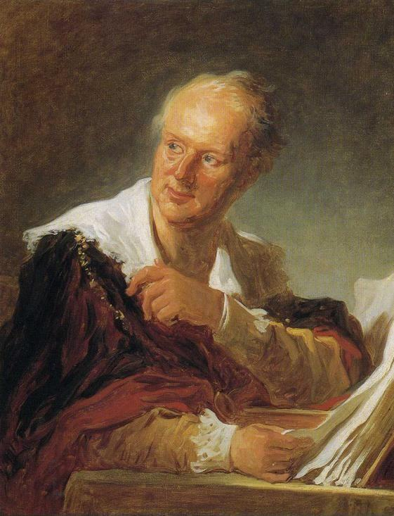 Jean-Honoré Fragonard. Portrait of Diderot.