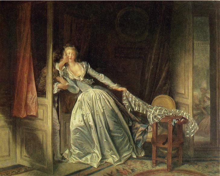 Jean-Honoré Fragonard. The Stolen Kiss.
