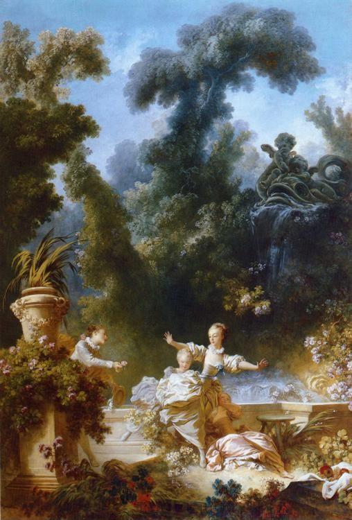 Jean-Honoré Fragonard. The Pursuit. One of the panels from The Progress of Love.
