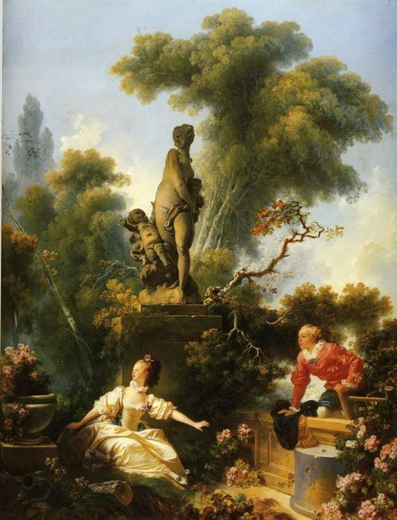 Jean-Honoré Fragonard. The Meeting. One of the panels from The Progress of Love.