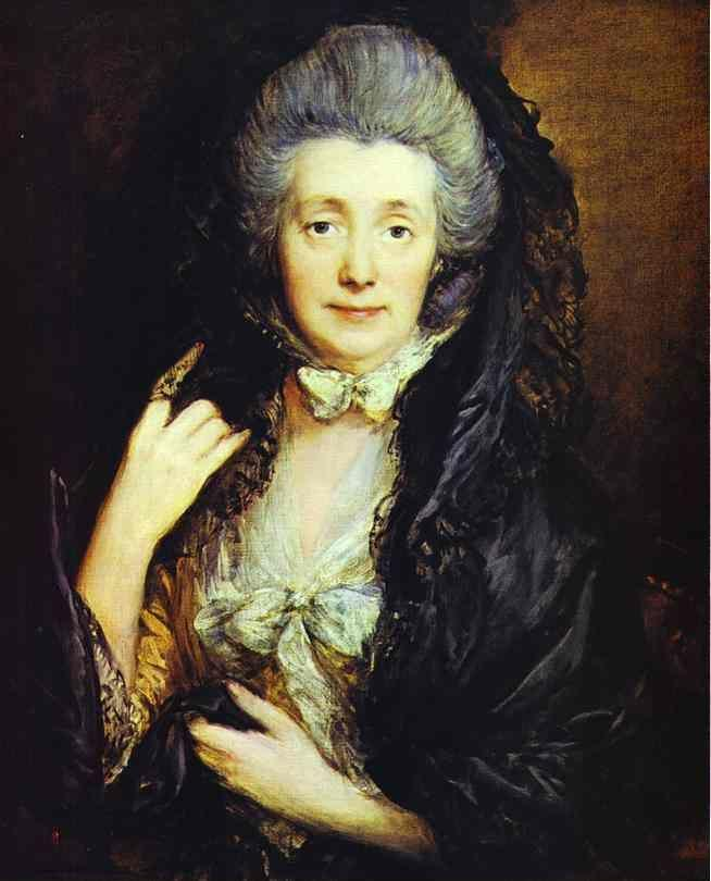 Thomas Gainsborough. Mrs. Thomas Gainsborough, nee Margaret Burr.