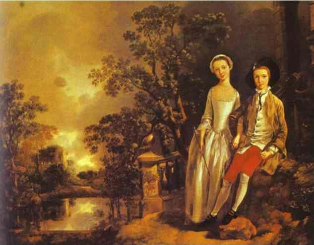 Thomas Gainsborough. Heneage Lloyd and His Sister.