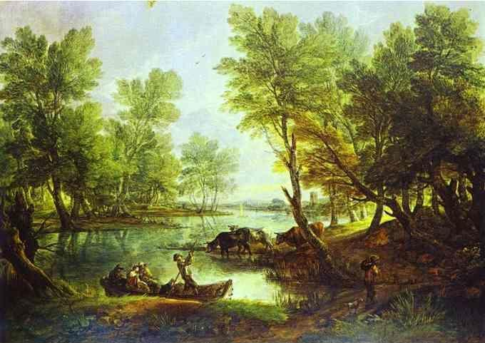 Thomas Gainsborough. View of King's Bromley-on-Trent, Staffordshire.